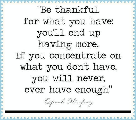 oprah winfrey quote about being thankful
